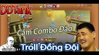 Garena DDTank:Funny Game,Cầm Combo Đào Troll Đồng Đội Xem Phản Ứng Như Thế Nào?