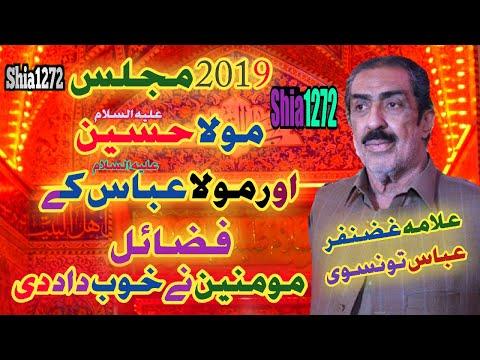 Allama Ghazanfar Abbas Tonsvi 2019 Majlis Topic Mola Hussain A.s And Mola Abbas A.s