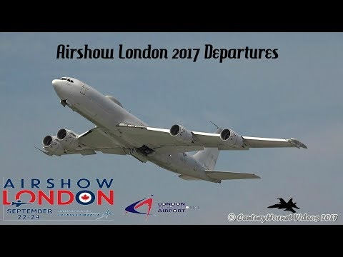 Airshow London 2017- Sunday and Monday Departures September 24th and 25th, 2017