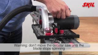 How to use the Skil saw guide with a circular saw?
