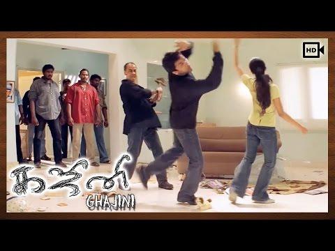 Ghajini Tamil Movie | Scenes | Pradeep Rawt Beat Suriya & Asin