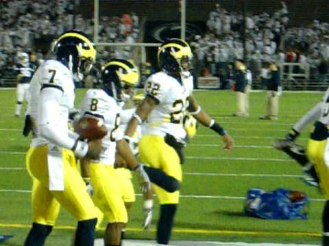 DC Stonum and Michigan Offense Warmup at Happy Valley!