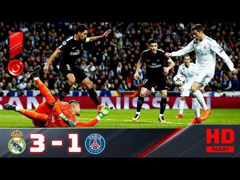 Реал Мадрид - ПСЖ. Обзор матча 1/8 Лиги чемпионов 14.02.2018г.