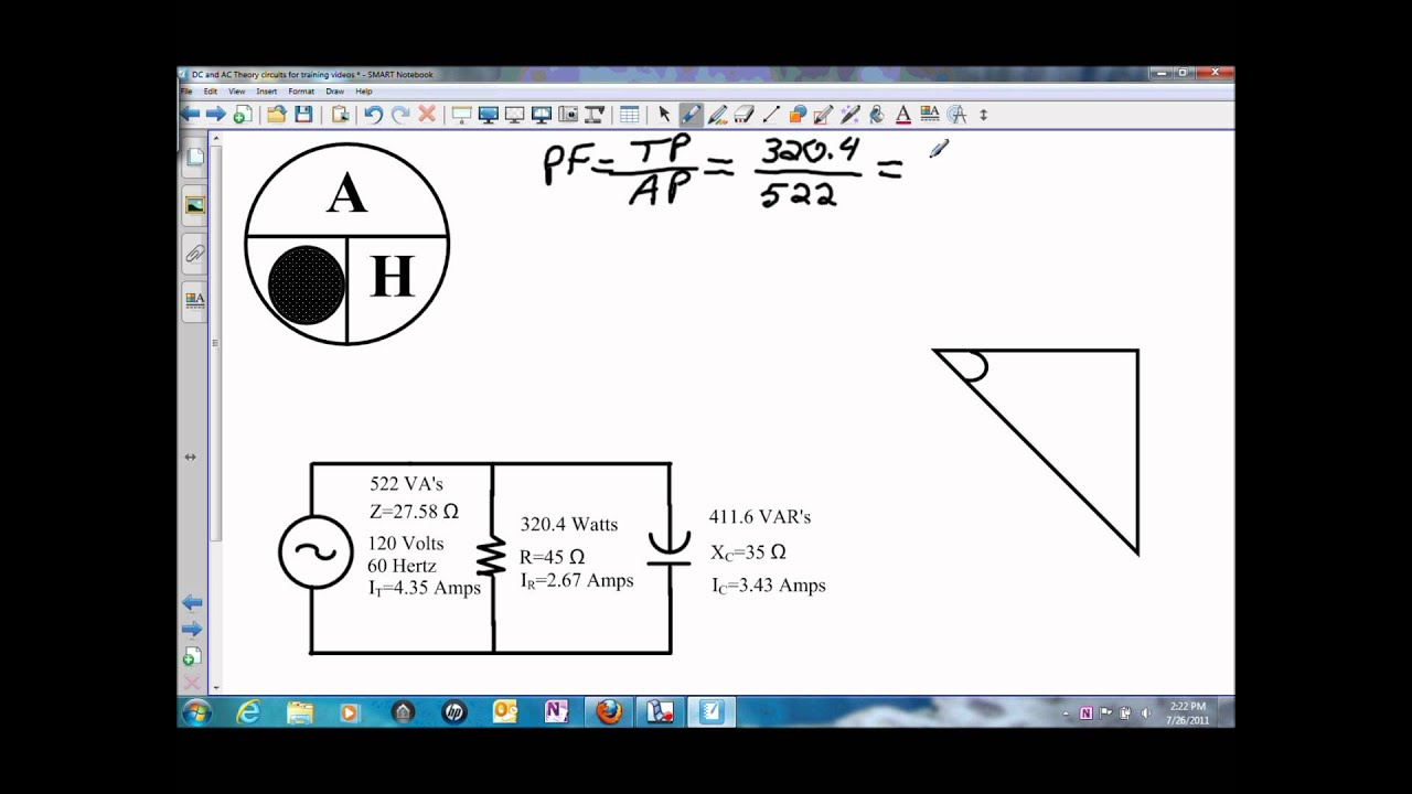 power factor and angle theta for a parallel rc circuit wmv youtube rh youtube com