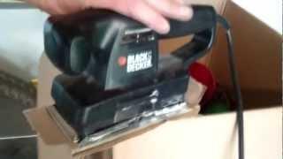 Keeping sandpaper on Black & Decker sander