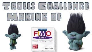 Juf Jannie Fimo klei Trolls Challenge making of GamerPapa Troll.