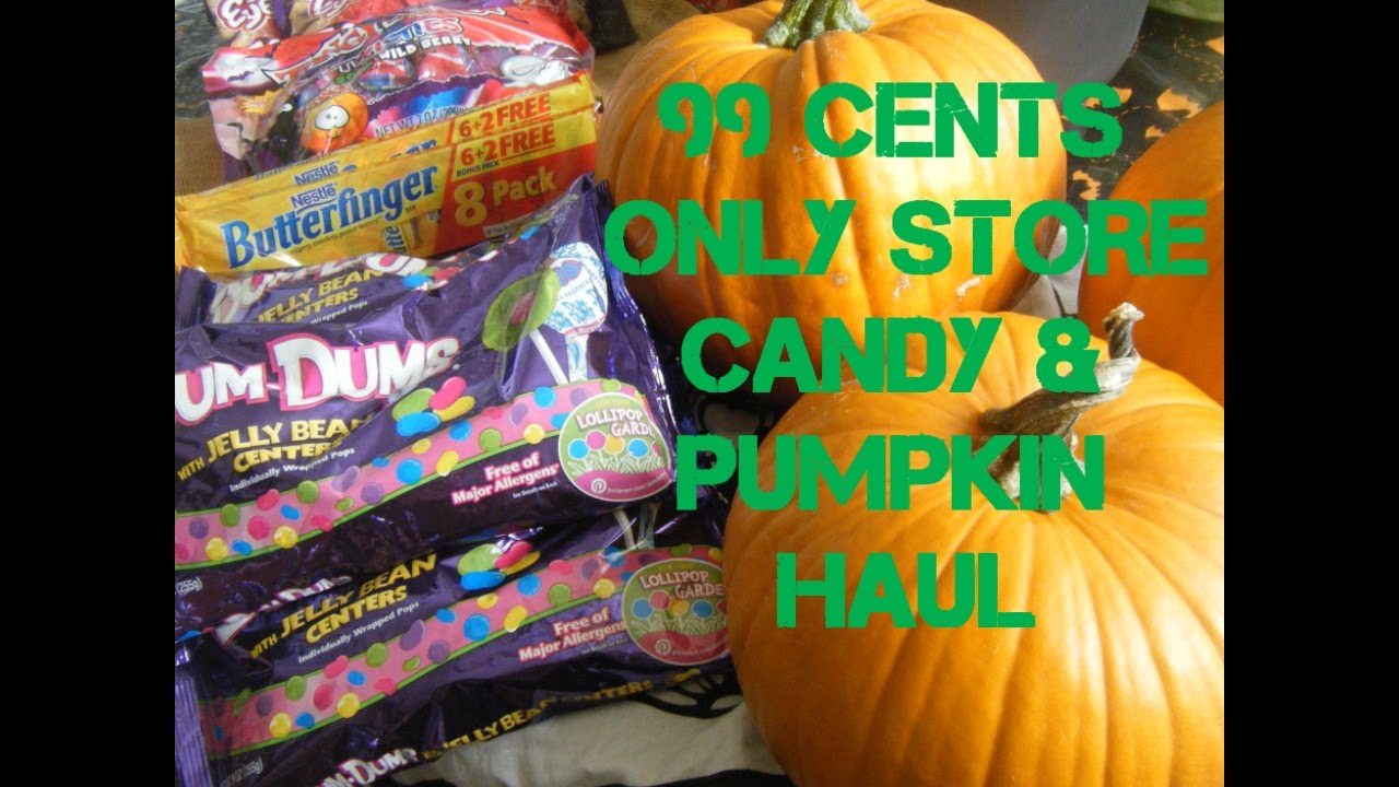 99 CENTS ONLY STORE HALLOWEEN CANDY AND PUMPKINS