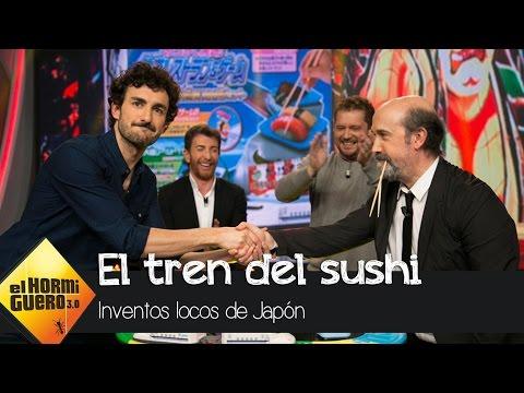 Javier Cámara y Miki Esparbé, duelo extremo dentro del tren del sushi   El Hormiguero 3.0