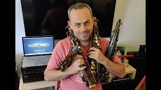 Oleg Naiman plays the Emeo - digital practice saxophone