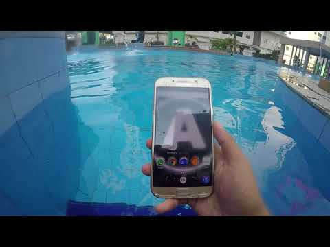 samsung galaxy A7 2017 underwater touchscreen test