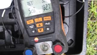 HVAC-REPARATIE:-zeer laag vloeibare lijn temperatuur,hoge subcool,geen airconditioning