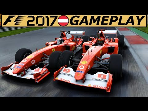 Ferrari F2002 Red Bull Ring – F1 2017 Gameplay German   Lets Play Formel 1 2017 Classic Deutsch 4K