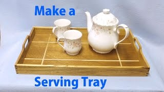 Serving Tray With Holly Inlay - A Woodworkweb Woodworking Video