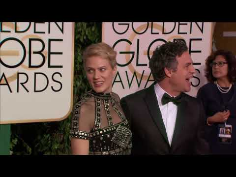 Mark Ruffalo and Sunrise Coigney  Golden Globes 2016