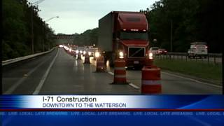 Construction, lane closures continue on Interstate 71
