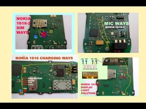 Nokia 1616-2 Charging,Insert Sim,Mic,Display Light Problem How To Make Jumper