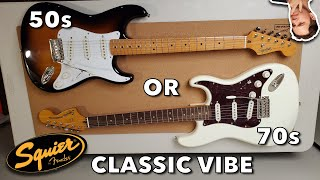 Fender Squier Classic Vibe 50s VS 70s Stratocaster - Which Is the Best For YOU?