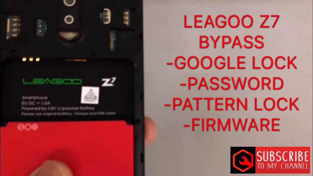 LEAGOO Z7 v8 1 0 frp bypass google account/screen lock/flash file