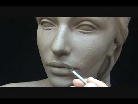 Sculpting A Female Head In Clay. Sculpting Tutorial And