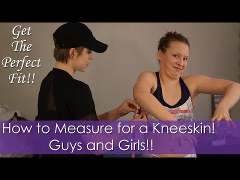 How to Measure for a Kneeskin!!! Guys and Girls! Get the Perfect Fit!!