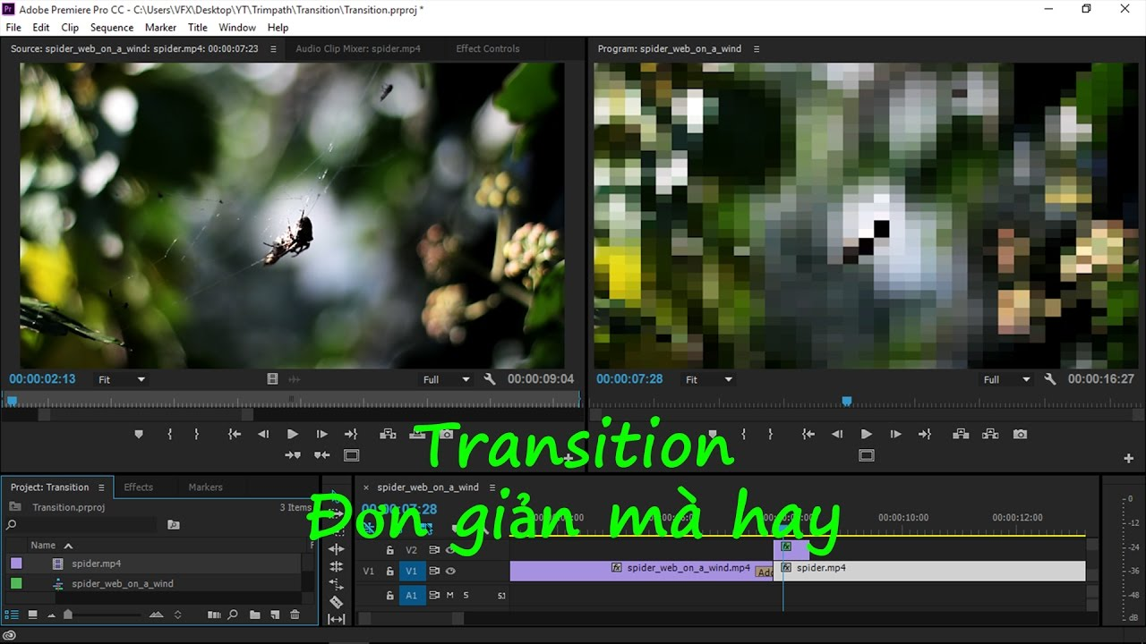 [Effect Premiere Pro] Bài 08_Tạo Transition trong Premiere Pro