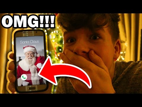 SANTA CLAUS SENT ME A VIDEO MESSAGE!!! OMG!!!