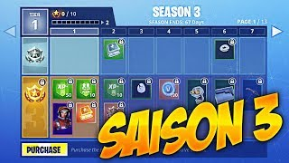 EVERYTHING ABOUT FORTNITE Battle Royale SAISON 3!! Combat Pass