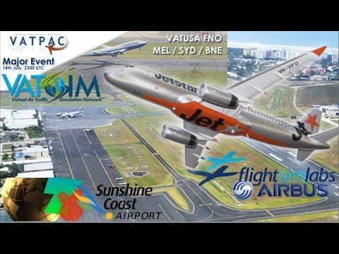 FSlabs A320 to Flukey's OZx Sunshine Coast YBSU (P3Dv3)
