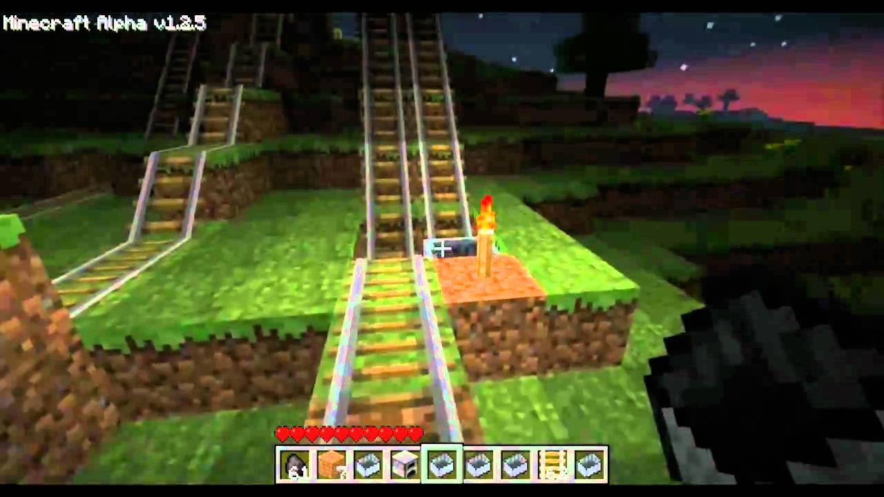 how to make a powered minecart track in minecraft