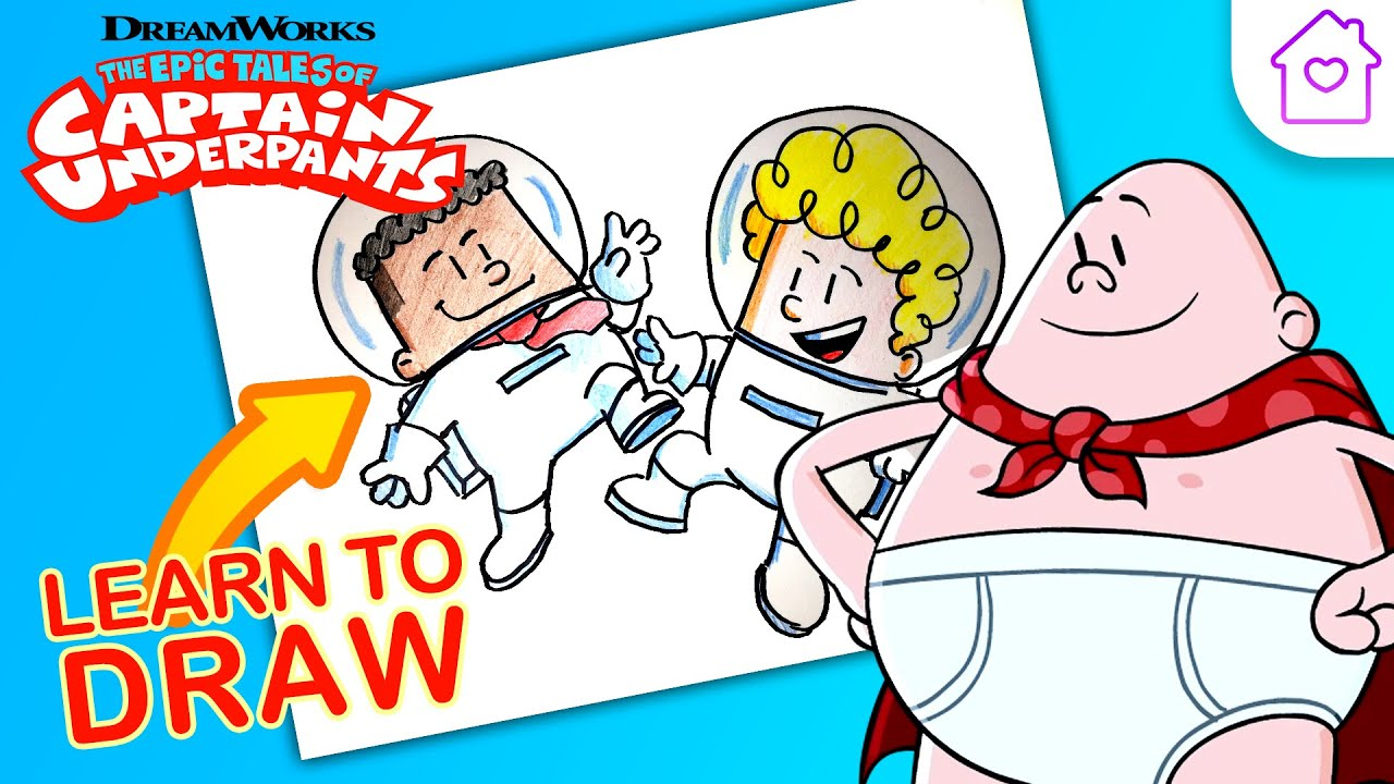How to Draw GEORGE and HAROLD from CAPTAIN UNDERPANTS!   #CAMPDREAMWORKS DRAW-ALONG