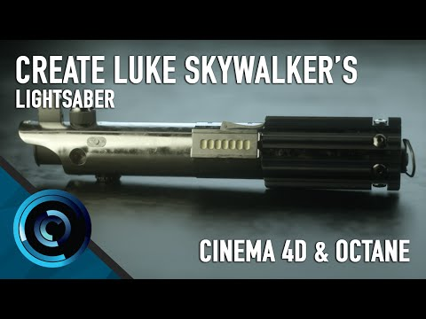 Create Luke Skywalker's Lightsaber Start to Finish Cinema 4D & Octane 3