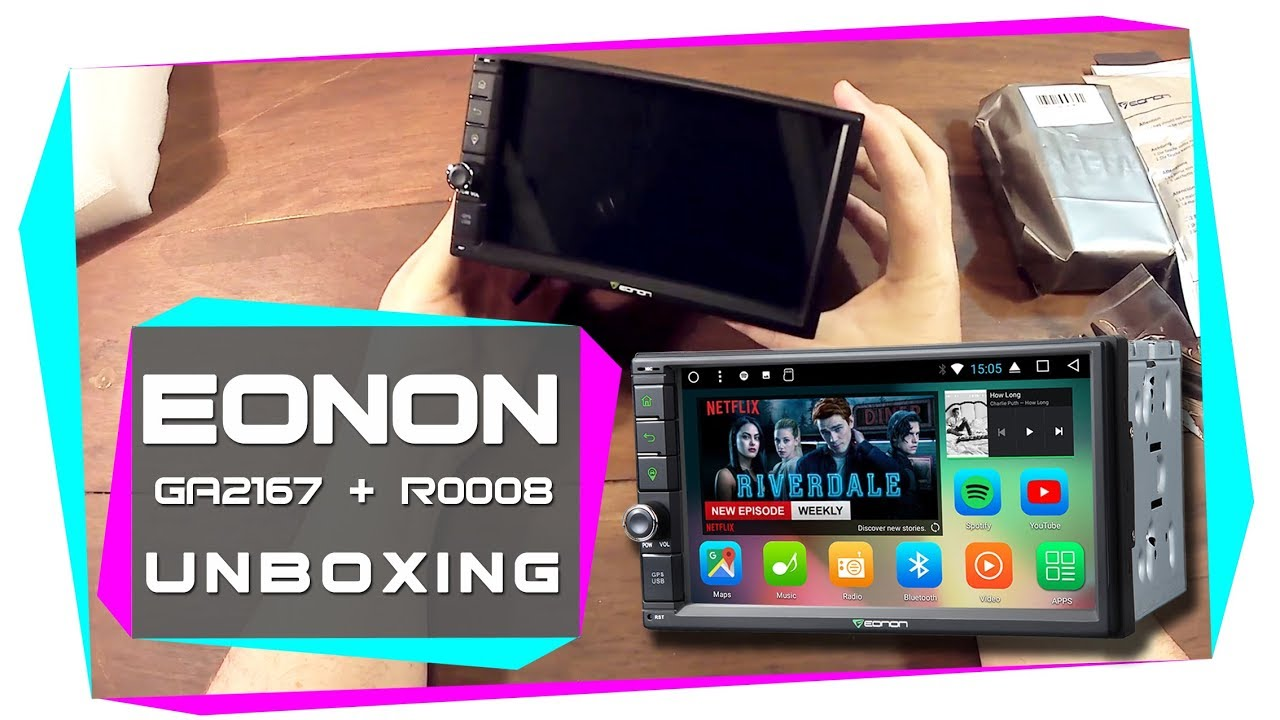 BEST 2DIN Android Car Stereo 2018 ! Eonon GA2167 Double Din car stereo  unboxing video