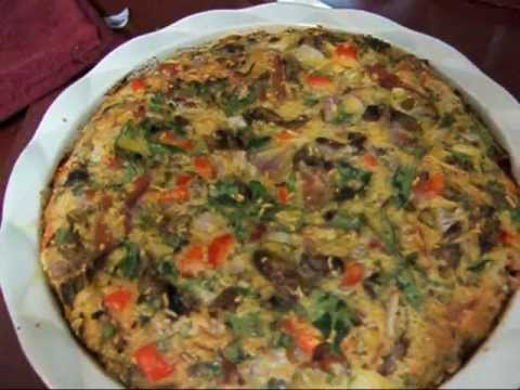 Crustless Quiche -- for a super easy supper (January 2013)
