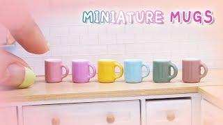 Doll Kitchen#14 DIY miniature mugs 미니어쳐 머그컵