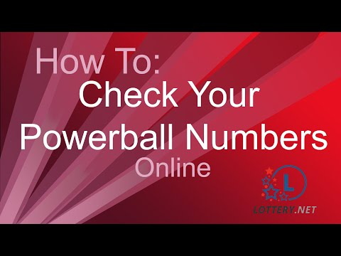 How to check your Powerball Numbers online - YouTube