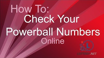 How to check your Powerball Numbers online