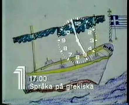 TV1-klocka före Språka på grekiska (1981)