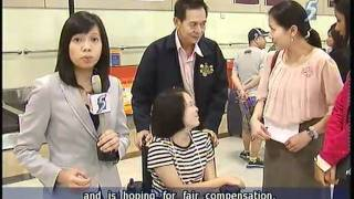 Thai teen who lost legs in MRT accident returns to Thailand - 13Jun2011