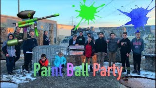 My epic paintball party!