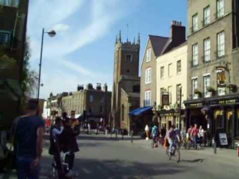 Cambridge town center (Sidney Street, Bridge Street, River Cam)