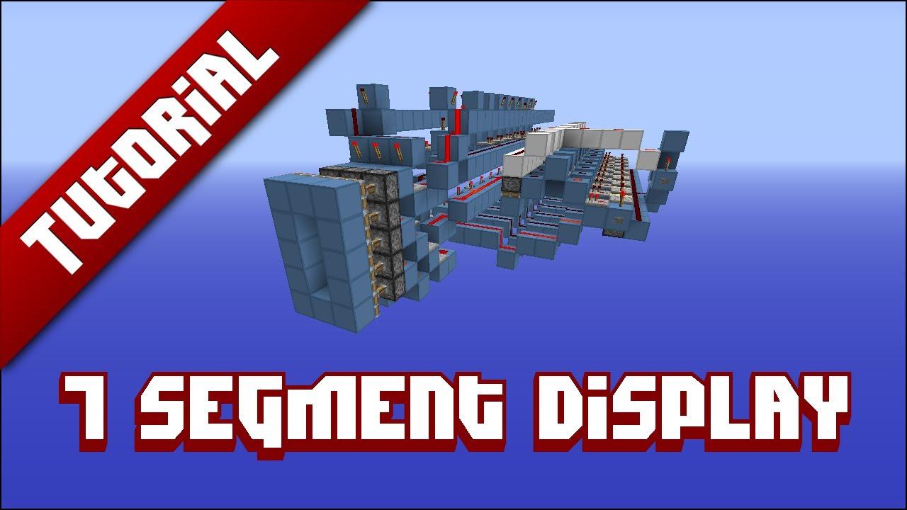 Minecraft Tutorial 7 Segment Display Youtube