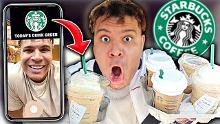 Letting the STARBUCKS FILTER choose my drinks ALL DAY! *crazy*