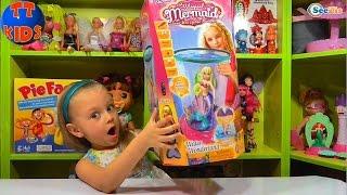 ✔ Беби Борн. Ярослава распаковывает новую игрушку Русалка с Аквариумом. Видео для детей ✔
