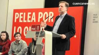 Acto público del PSOE de Cuenca con Marcelino Iglesias