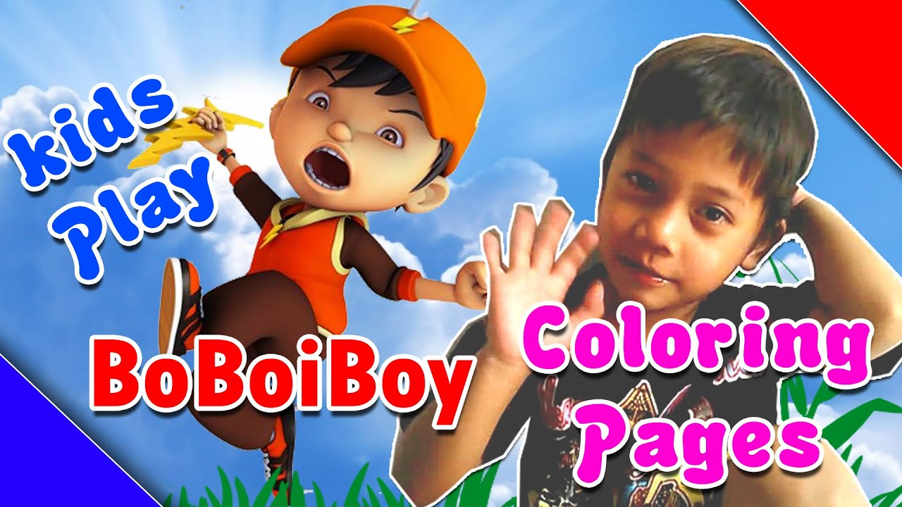 Boboiboy Coloring Pages Play Kids Muhammad Akhir