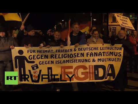 LIVE camera following PEGIDA's demo in Leipzig