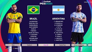 PES 2021 - Brazil vs Argentina - International Match - Messi vs Neymar