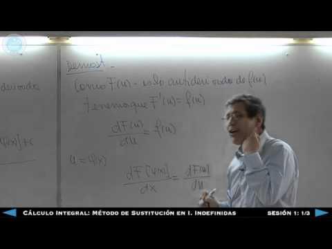 Cálculo Integral: Método de Sustitución en Integrales Indefinidas - Sesión 1 1/3