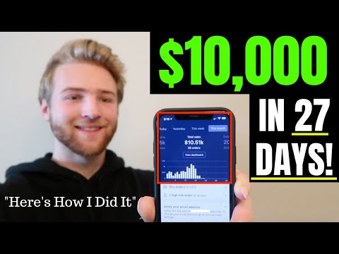 $0 to $10,000 In 27 days on Shopify  | Product REVEAL - My First Profitable Month STORY