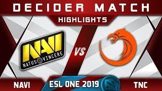 TNC vs NaVi Decider ESL One Mumbai 2019 Highlights Dota 2